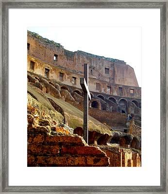 Colisseum Cross Framed Print