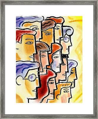 Collaboration Framed Print by Leon Zernitsky