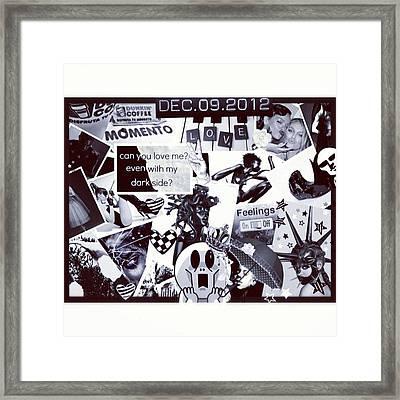 Collage Black And White Framed Print