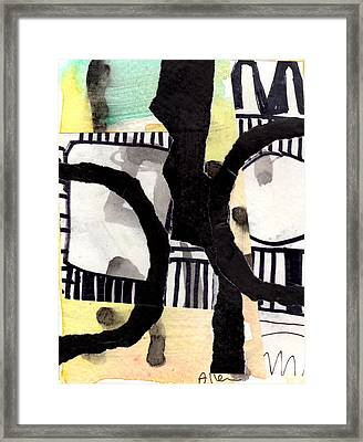 Collage Drawing Two Framed Print