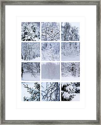 Collage January - Featured 3 Framed Print