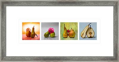 Collage Love Story - Horizontal Framed Print