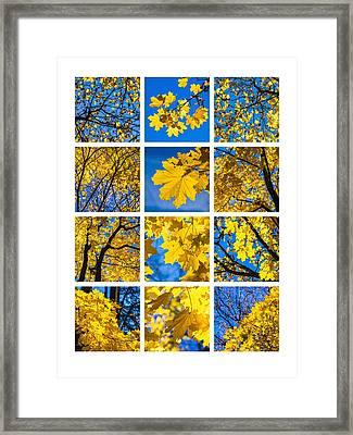 Collage October Blues Framed Print by Alexander Senin