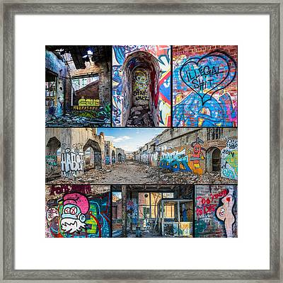 Framed Print featuring the photograph Collage Of Graffiti by Steven Santamour