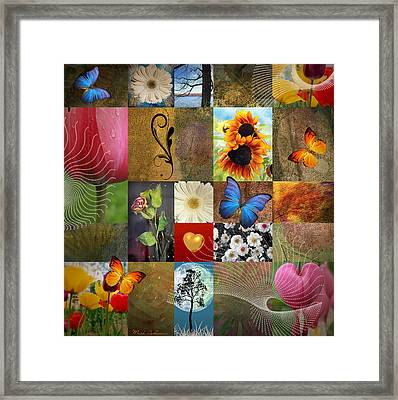 Collage Of Happiness 2 Framed Print by Mark Ashkenazi
