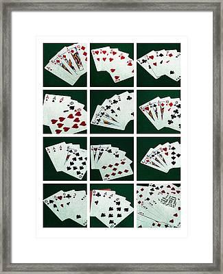 Collage Poker Hands 1 Framed Print