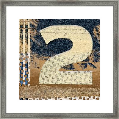 Collaged Two Framed Print by Carol Leigh