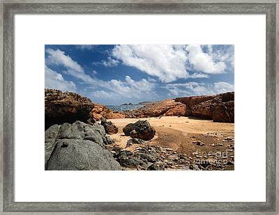 Collapsed Natural Bridge Aruba Framed Print by Amy Cicconi