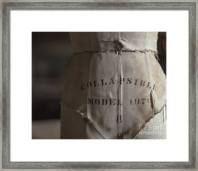 Collapsible Model Framed Print by Jillian Audrey Photography