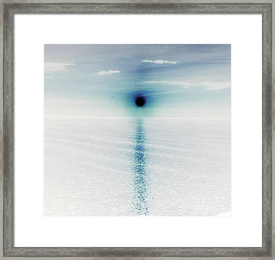 Collapsing Sun Framed Print