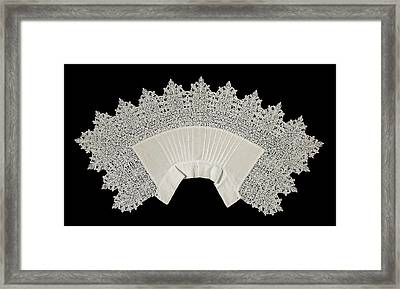Collar Of Linen Trimmed With Reticella Needle Lace Framed Print by Quint Lox