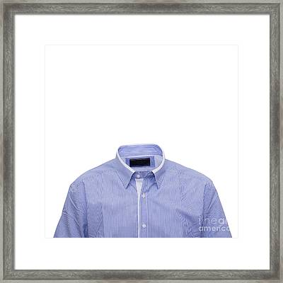 Collar Shirt Template Framed Print By Tuimages