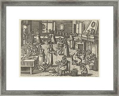 Collar Workshop, Pieter Van Der Borcht Framed Print