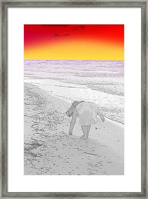 Collecting Sea Shells Framed Print