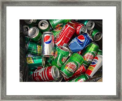 Collection Of Cans 02 Framed Print