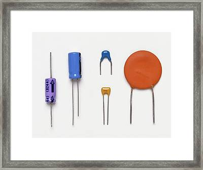 Collection Of Capacitors Framed Print