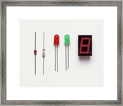 Collection Of Diodes Framed Print by Dorling Kindersley/uig