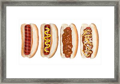 Collection Of Hotdogs Framed Print