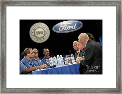 Collective Bargaining Framed Print