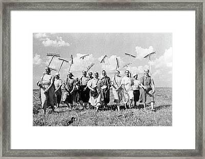 Collective Farm Framed Print by Library Of Congress