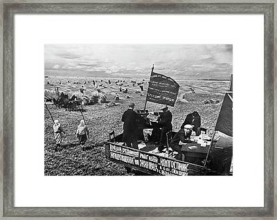 Collective Farm Propaganda Framed Print