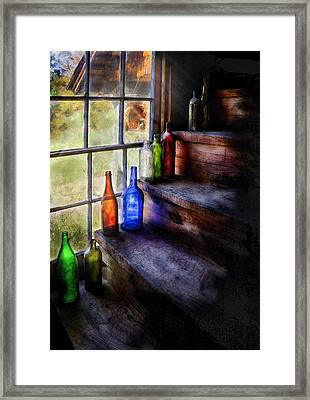 Collector - Bottle - A Collection Of Bottles Framed Print by Mike Savad