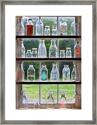 Collector - Bottles - Milk Bottles  Framed Print