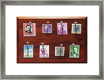 Collector - Stamp Collector - My Stamp Collection Framed Print by Mike Savad