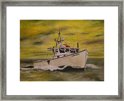 Framed Print featuring the painting Colleen by Stan Tenney