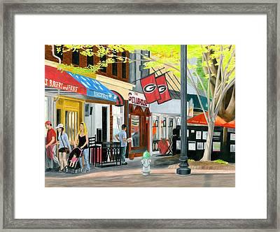 College Avenue Framed Print