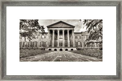 College Of Charleston Randolph Hall Sepia Framed Print by Dustin K Ryan