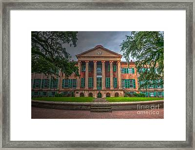 College Of Charleston Randolph Hall Framed Print by Dale Powell