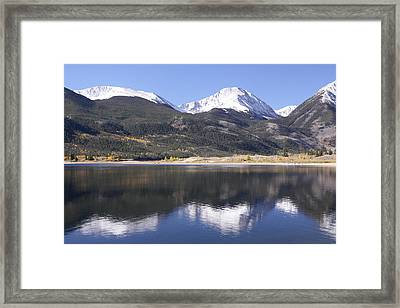 Collegiate Peaks Reflected Framed Print