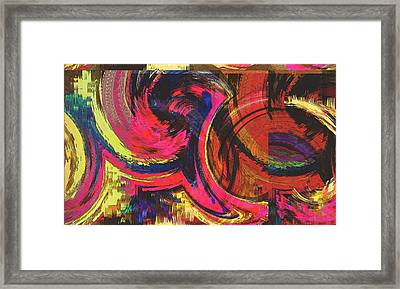 Collide  Framed Print by Kiara Reynolds