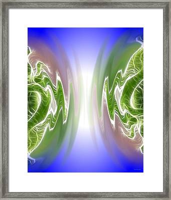 Colliding Atoms Framed Print by Daniel Madrid