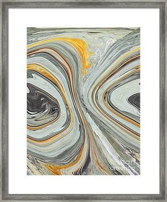 Colliding Circles Framed Print