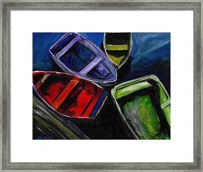 Colliding Skiffs Framed Print