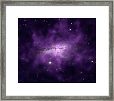 Colliding Spiral Galaxies Framed Print