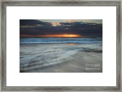 Colliding Tides Framed Print by Mike  Dawson
