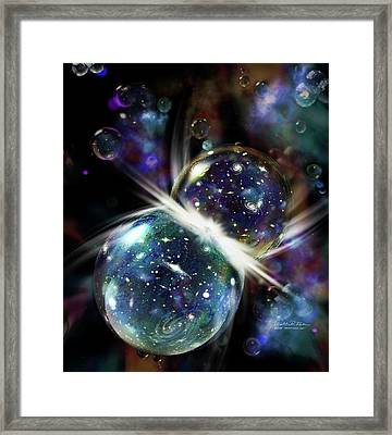 Colliding Universes Framed Print by Nicolle R. Fuller