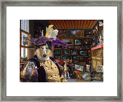 Collie Rough Canvas Print - Cognoscenti In A Room Hung With Pictures Framed Print by Sandra Sij