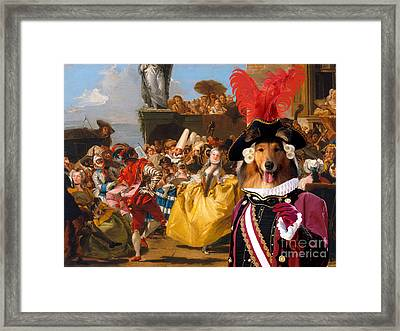 Collie Rough Canvas Print - The Royal Dance Framed Print by Sandra Sij