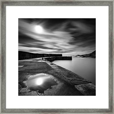 Collieston Breakwater Framed Print
