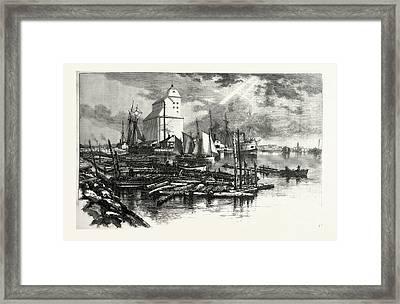 Collingwood Harbour, Canada Framed Print