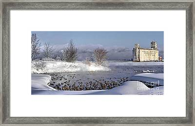 Collingwood Terminal Building In Winter  Framed Print