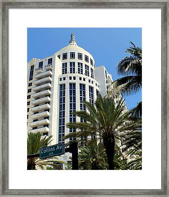 Collins Ave Framed Print by Karen Wiles