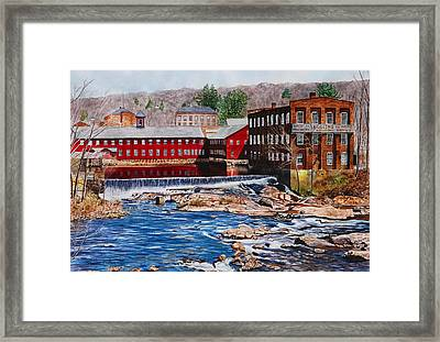 Collinsville Axe Factory Framed Print by Sharon Farber
