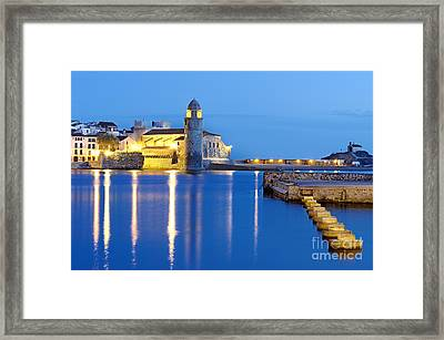 Collioure Harbour France Framed Print