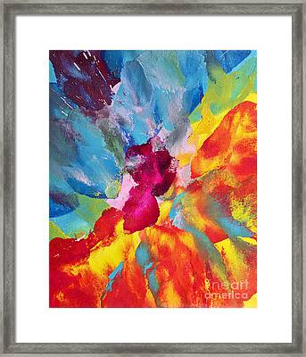 Collision Of Color Framed Print