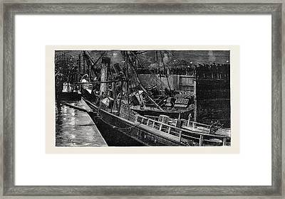 Collision Of The S.s Framed Print by English School